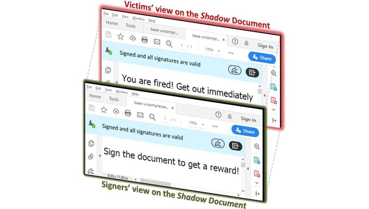 Técnica permite modificar ficheros PDF firmados digitalmente