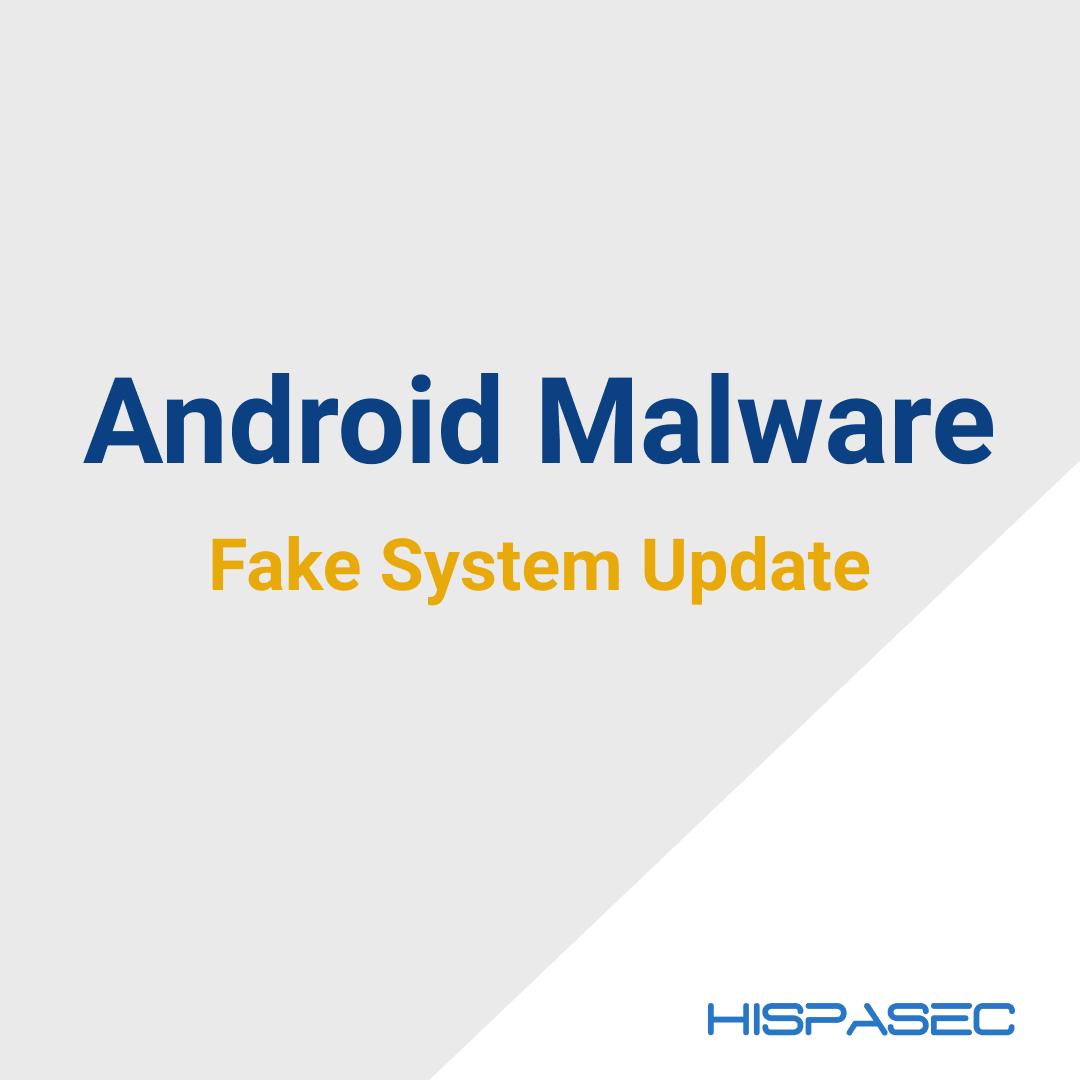 Malware Android disfrazado de actualización del sistema